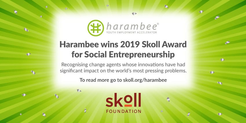 Harambee wins the 2019 Skoll Award for Social Entrepreneurship