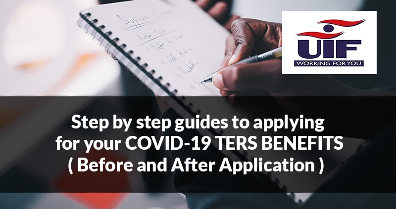 Step by step guides to applying for your COVID-19 TERS BENEFITS